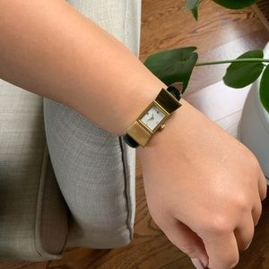 KATE SPADE Black and Gold Bow Watch. No Box.